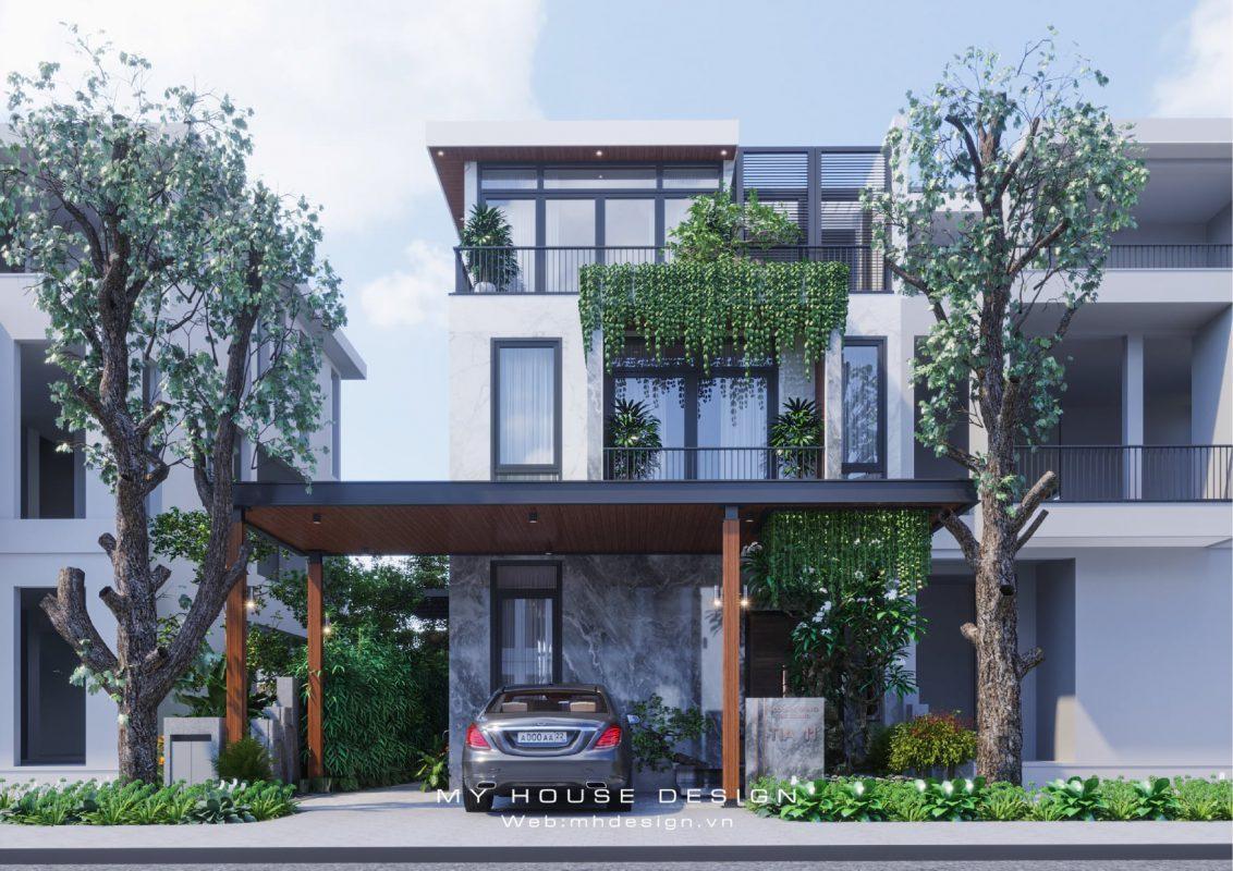 Thiết kế thi công kiến trúc biệt thự Ecopark