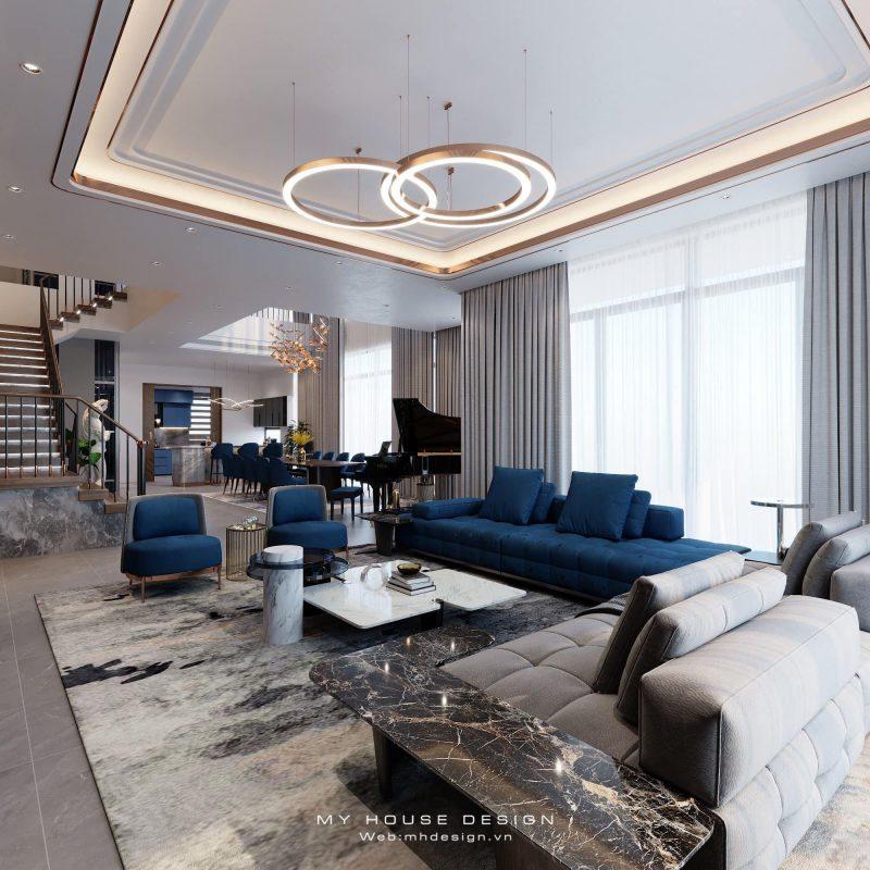 Thiết kế nội thất biệt thự Ecopark phong cách hiện đại