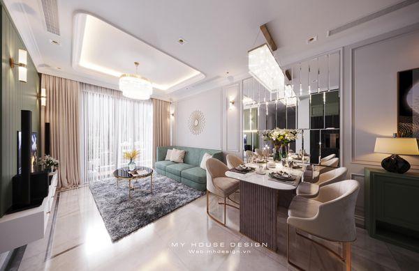 Mẫu thiết kế chung cư cao cấp 3 phòng ngủ ấn tượng