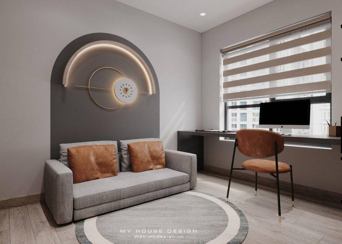 Thiết kế căn hộ 80m2 3 phòng ngủ đẹp hoàn hảo tại Vinhomes