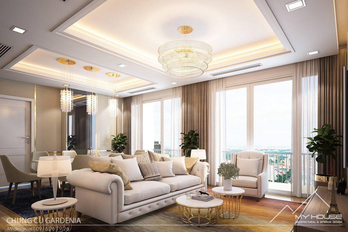 Thiết kế chung cư Gardenia ấn tượng với 3 phòng ngủ