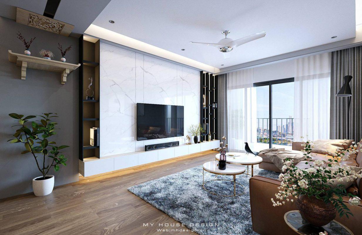 Thiết kế nội thất căn hộ cao cấp hiện đại tại TSQ