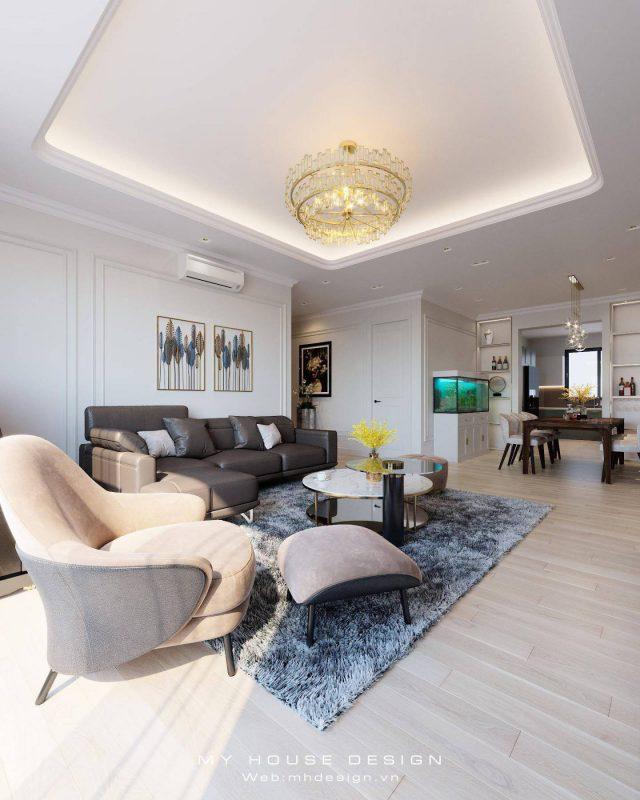Thiết kế nội thất căn mẫu chung cư Huyndai Hà Đông