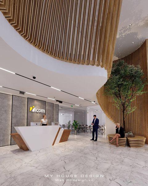Thiết kế nội thất văn phòng hiện đại và tiện nghi Icom