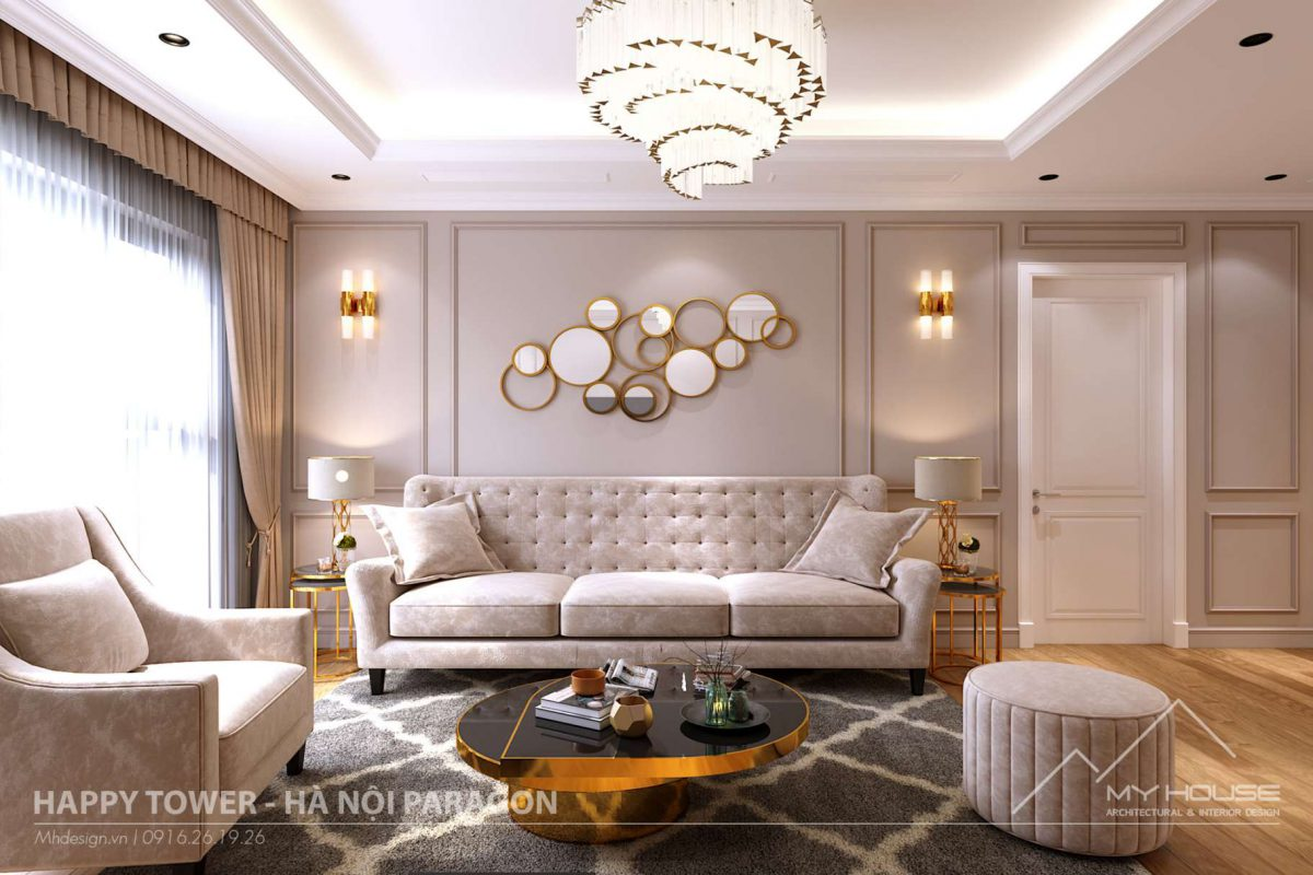 Thiết kế thi công căn hộ mẫu Paragon phong cách tân cổ điển