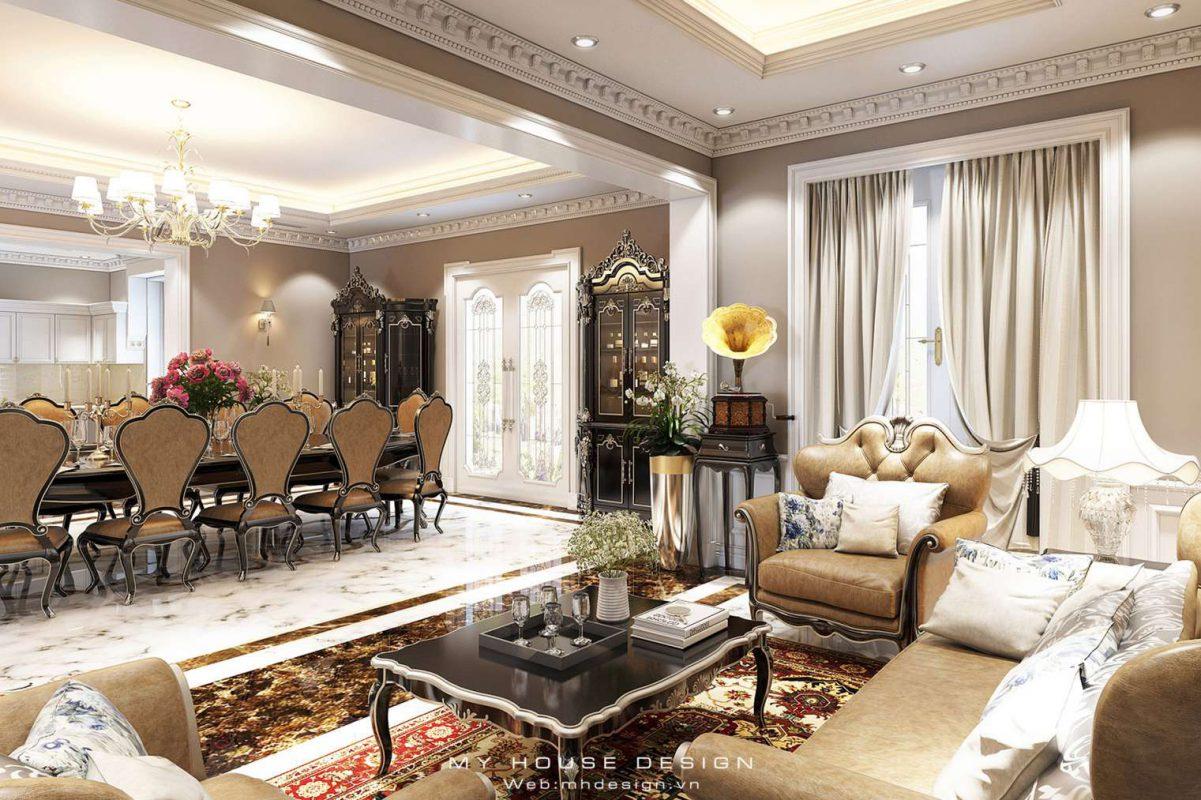 Thiết kế biệt thự tân cổ điển Vinhomes Riverside Hoa Lan 0307