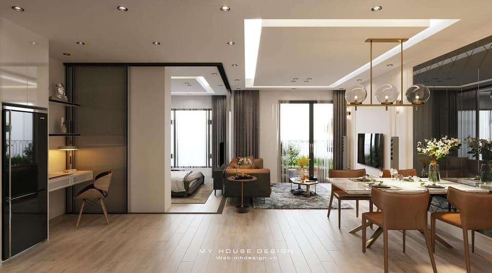My House thiết kế căn hộ mẫu studio sang trọng tiện nghi