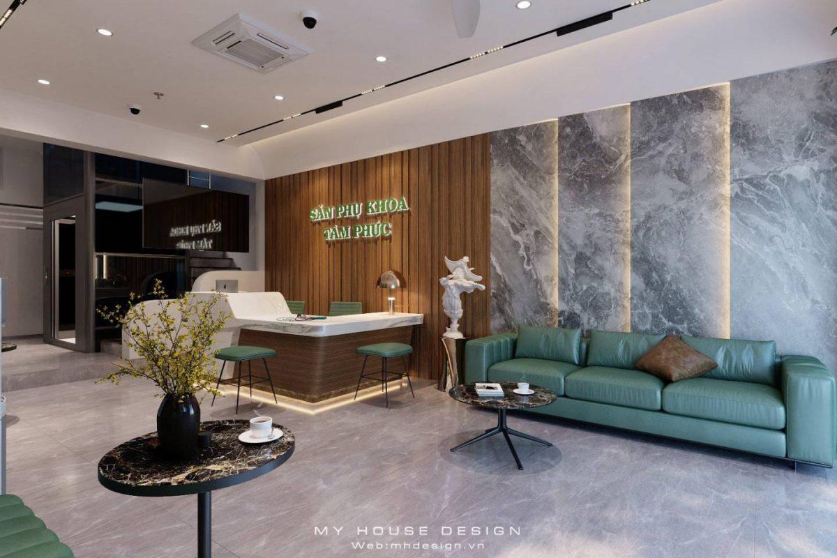 Thiết kế shophouse kết hợp giữa phòng khám và nhà ở