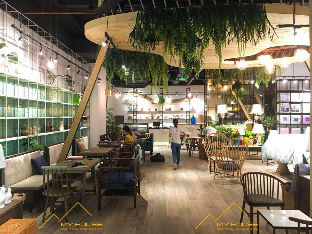 Thi công quán cafe Amara đẹp độc đáo và ấn tượng