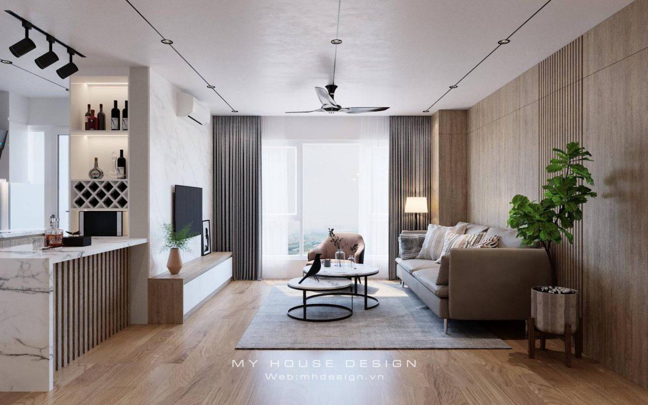 Thiết kế chung cư Dương Nội tươi trẻ với phong cách hiện đại