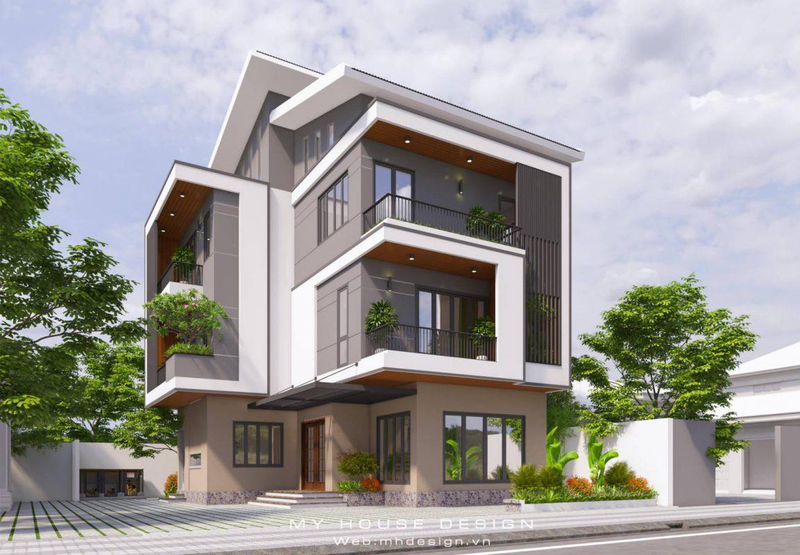 Thiết kế kiến trúc biệt thự hiện đại tại Ninh Bình