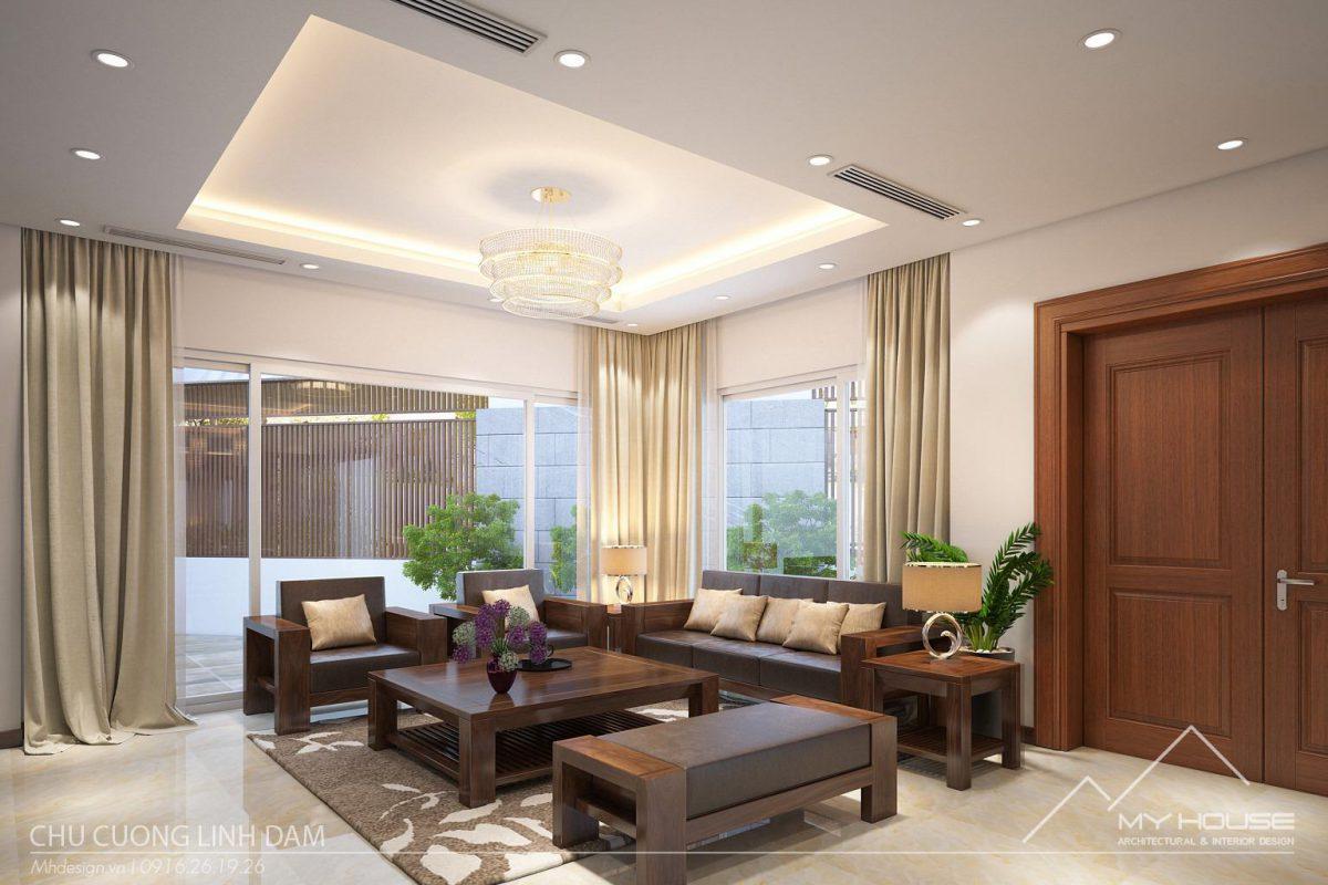 Thiết kế nội thất nhà phố hiện đại tại KĐT Linh Đàm