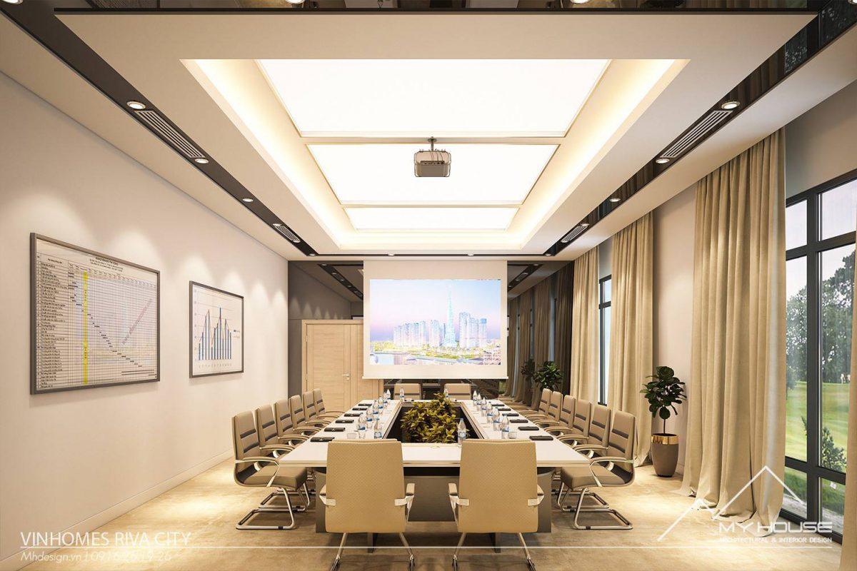 Thiết kế thi công phòng giao dịch Vinhome Riva City