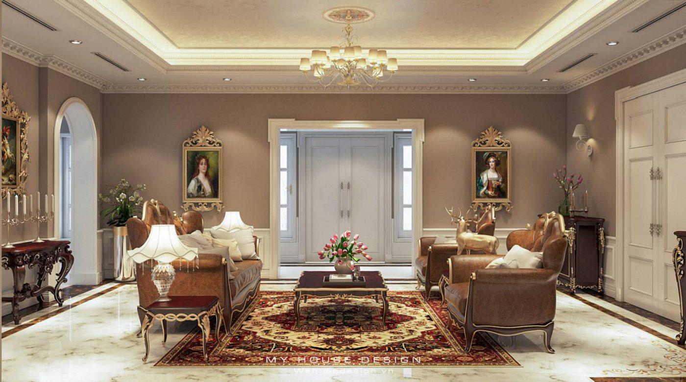 Thiết kế nội thất biệt thự tân cổ điển Vinhomes Bằng Lăng 08-08