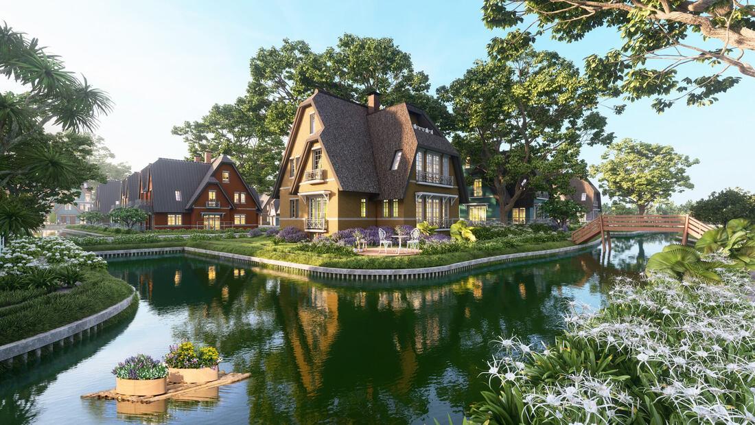 Thiết kế biệt thự Làng Hà Lan khu đô thị xanh Ecopark